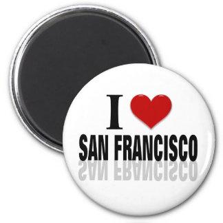 Amo a San Franciso Imán Redondo 5 Cm