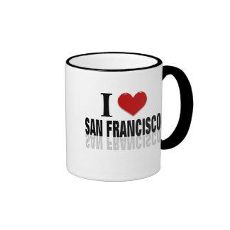 Amo a San Franciso Taza A Dos Colores