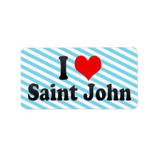 Amo a San Juan, Canadá Etiqueta De Dirección