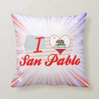 Amo a San Pablo, California Cojines
