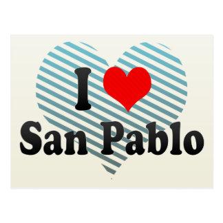 Amo a San Pablo, Filipinas Tarjetas Postales