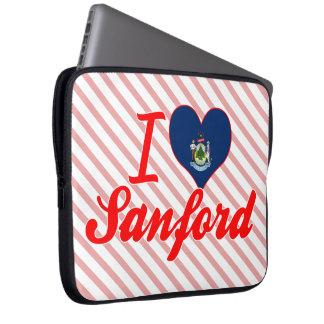 Amo a Sanford, Maine Mangas Portátiles