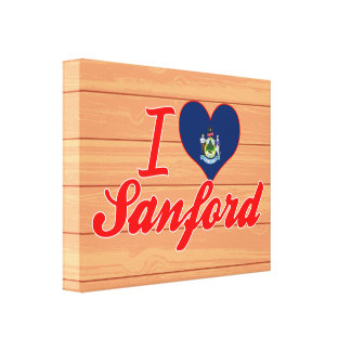 Amo a Sanford, Maine Impresiones En Lona Estiradas