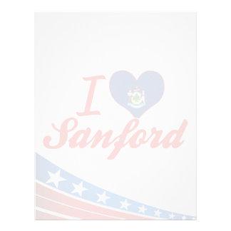 Amo a Sanford, Maine Membretes Personalizados