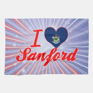 Amo a Sanford, Maine Toalla De Cocina