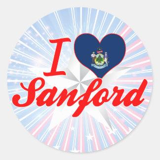 Amo a Sanford, Maine Etiquetas Redondas