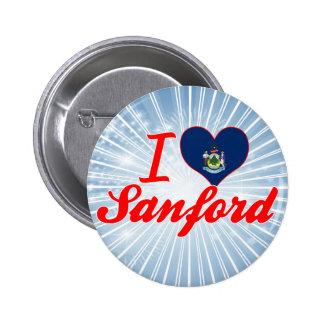 Amo a Sanford, Maine Pins