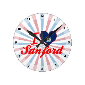 Amo a Sanford, Maine Relojes De Pared
