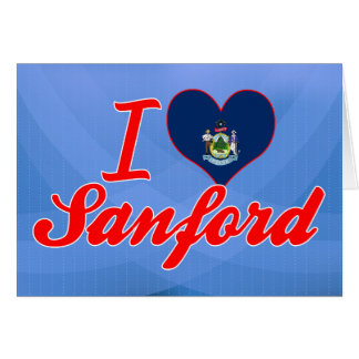 Amo a Sanford, Maine Felicitaciones