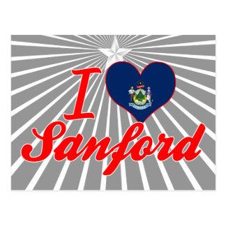 Amo a Sanford, Maine Tarjetas Postales