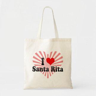 Amo a Santa Rita, el Brasil Bolsa Tela Barata