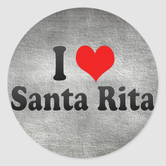 Amo a Santa Rita el Brasil Etiqueta Redonda