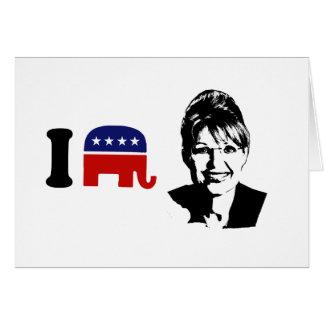 Amo a Sarah Palin 1 Tarjeta De Felicitación