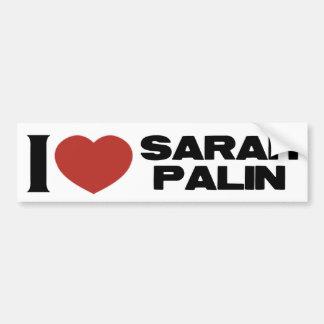 Amo a Sarah Palin Etiqueta De Parachoque