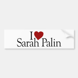Amo a Sarah Palin (McCain Palin 2008) Etiqueta De Parachoque