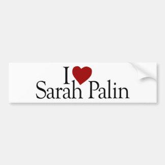Amo a Sarah Palin (McCain Palin 2008) Pegatina Para Auto