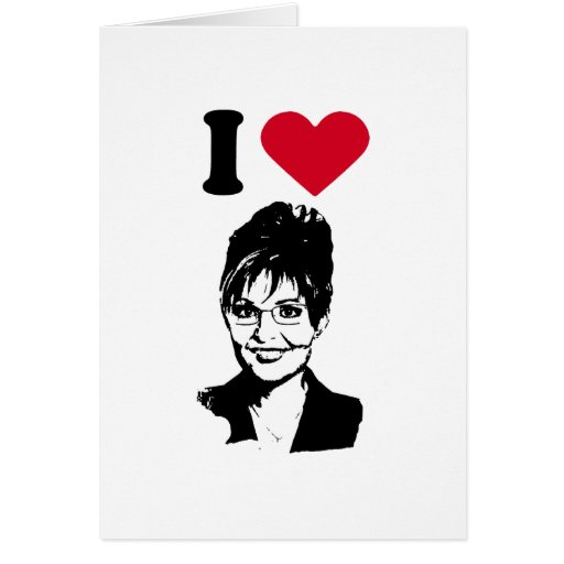 Amo a Sarah Palin Tarjetón