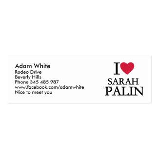 Amo a Sarah Palin Plantilla De Tarjeta De Negocio