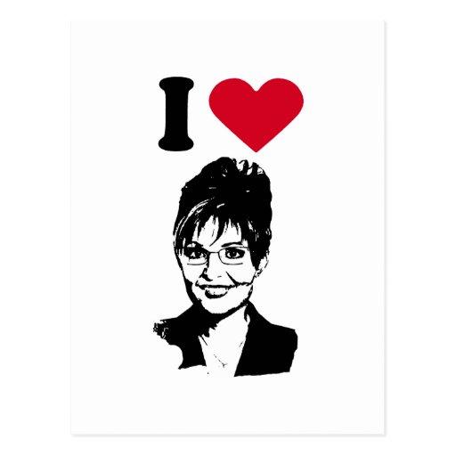 Amo a Sarah Palin Postales