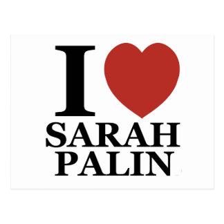 Amo a Sarah Palin Tarjetas Postales