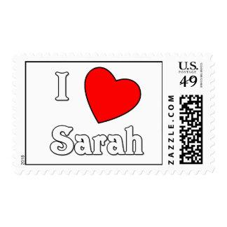 Amo a Sarah Sellos Postales