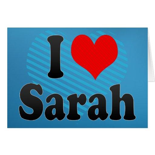 Amo a Sarah Felicitación