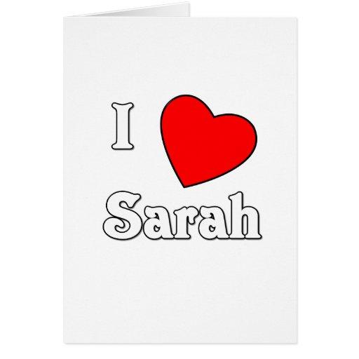 Amo a Sarah Tarjeta