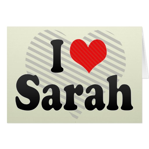 Amo a Sarah Tarjeton