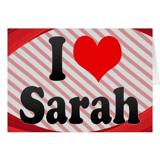 Amo a Sarah Tarjetón