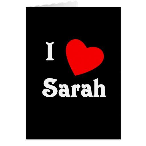 Amo a Sarah Felicitaciones