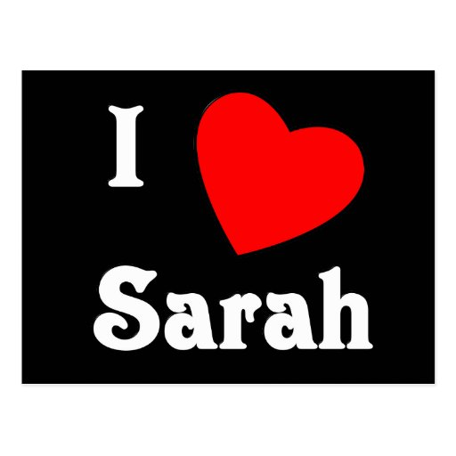 Amo a Sarah Postales