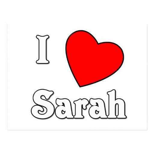 Amo a Sarah Tarjetas Postales