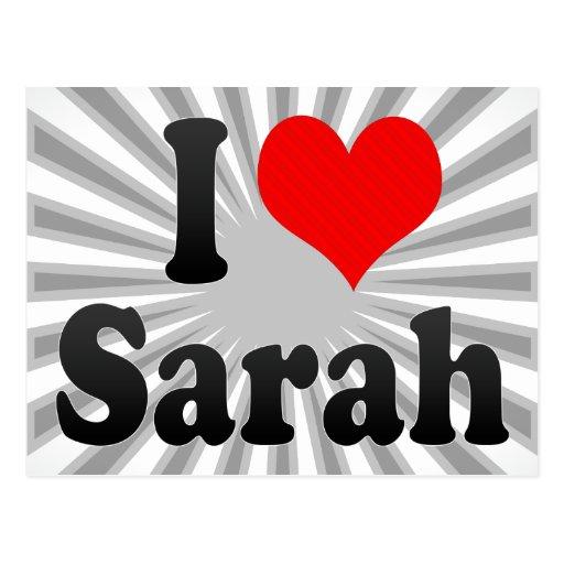 Amo a Sarah Postal