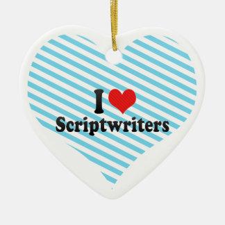 Amo a Scriptwriters Adorno Para Reyes
