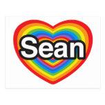 Amo a Sean. Te amo Sean. Corazón Postales
