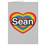 Amo a Sean. Te amo Sean. Corazón Tarjeta