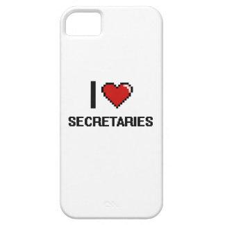 Amo a secretarias iPhone 5 funda