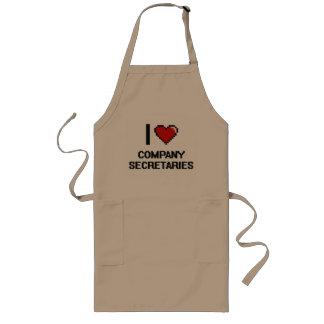 Amo a secretarios de la empresa delantal largo