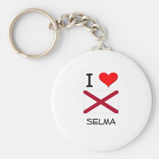 Amo a SELMA Alabama Llavero Redondo Tipo Pin