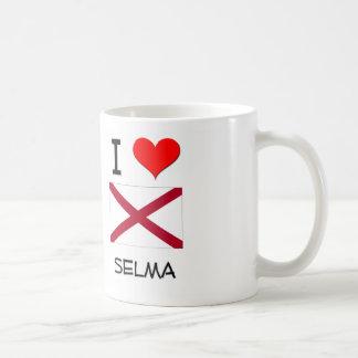 Amo a SELMA Alabama Taza Básica Blanca