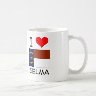 Amo a Selma Carolina del Norte Taza Básica Blanca