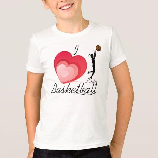 Amo a señora Basketball T=Shirt Playera