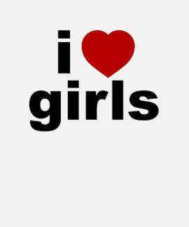 Amo a señoras de los chicas 3/4 raglán de la manga remeras