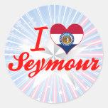 Amo a Seymour, Missouri Etiqueta Redonda