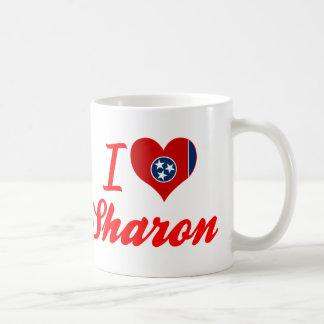 Amo a Sharon, Tennessee Taza Básica Blanca