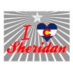 Amo a Sheridan, Colorado Tarjetas Postales