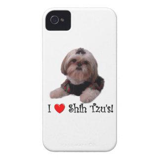 Amo a Shih Tzu iPhone 4 Case-Mate Coberturas
