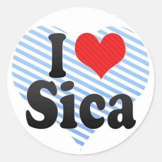 Amo a Sica Etiqueta Redonda