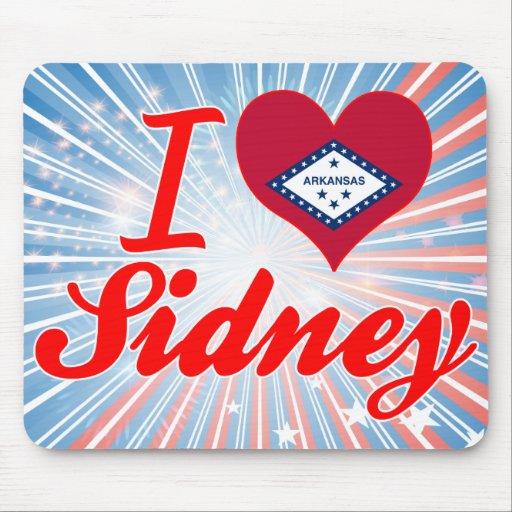 Amo a Sidney, Arkansas Tapetes De Ratón