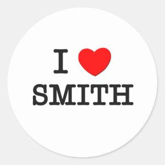 Amo a Smith Pegatina Redonda